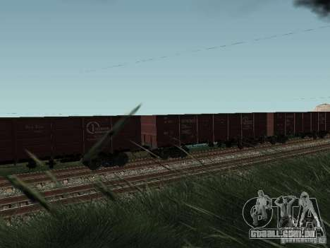 Empresa de carga do vagão aberto para GTA San Andreas vista direita