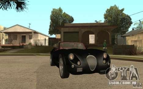 Wiesmann Roadster MF3 para GTA San Andreas vista traseira