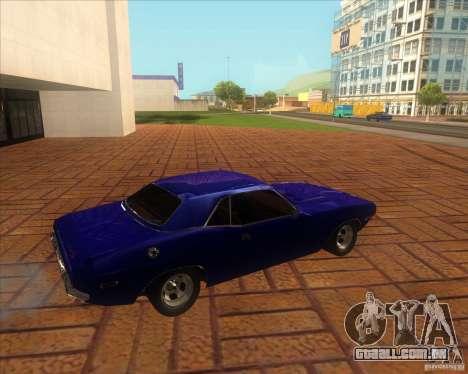 Dodge Challenger RT Hemi para GTA San Andreas esquerda vista