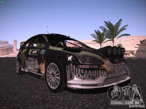 Ford Focus RS Monster Energy para GTA San Andreas esquerda vista