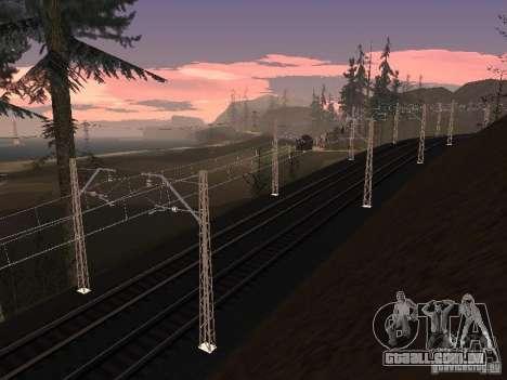 Rede de contactos para GTA San Andreas sexta tela