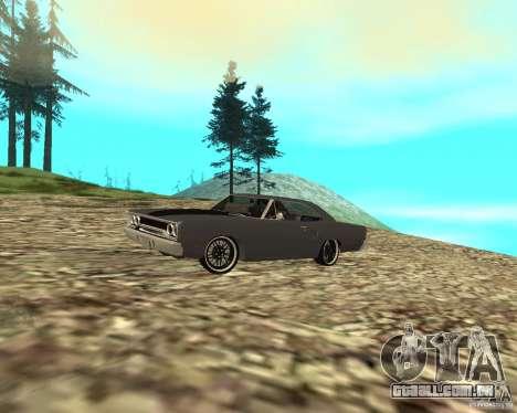 Plymouth Roadrunner 1970 para GTA San Andreas traseira esquerda vista