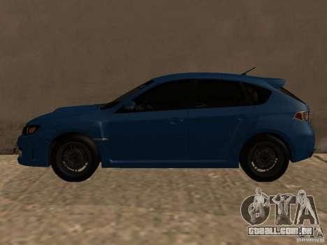 Subaru Imreza WRX para GTA San Andreas traseira esquerda vista
