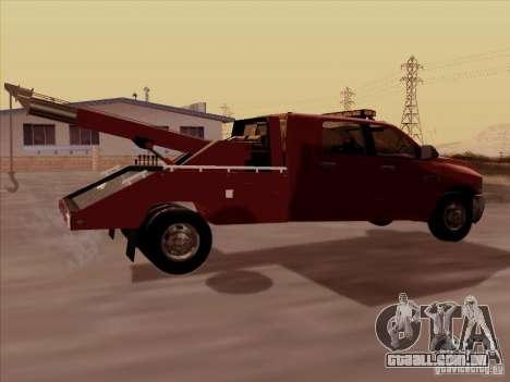 Dodge Ram 3500 TowTruck 2010 para GTA San Andreas vista direita