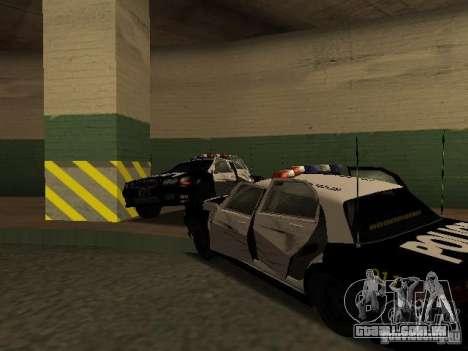 Police Civic Cruiser NFS MW para GTA San Andreas vista interior