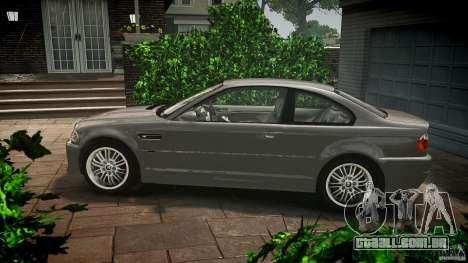 BMW M3 e46 v1.1 para GTA 4 esquerda vista