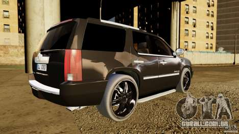 Cadillac Escalade 2007 v3.0 para GTA 4 traseira esquerda vista