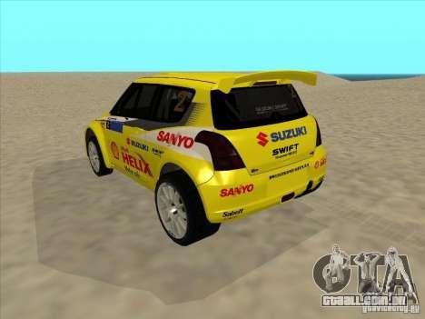 Suzuki Rally Car para GTA San Andreas esquerda vista