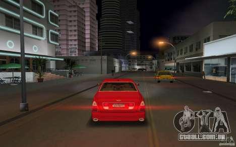Bentley Arnage T 2005 para GTA Vice City vista traseira