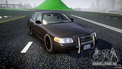 Ford Crown Victoria 2003 v2 FBI para GTA 4 vista de volta