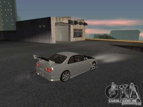 Nissan Skyline R33 SGM para GTA San Andreas vista direita