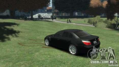 BMW M5 para GTA 4 esquerda vista