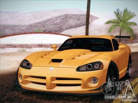 Dodge Viper SRT-10 ACR para GTA San Andreas traseira esquerda vista