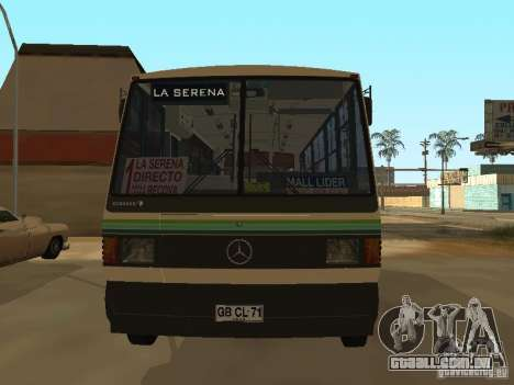 Mercedes-Benz LO-708E para GTA San Andreas vista direita