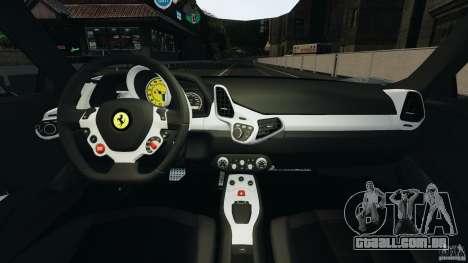 Ferrari 458 Italia 2010 [Key Edition] v1.0 para GTA 4 vista de volta