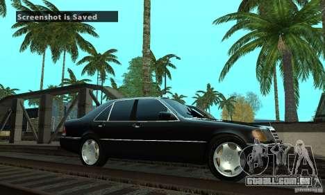 Mercedes-Benz 400 SE w140 Deputat Style para GTA San Andreas esquerda vista