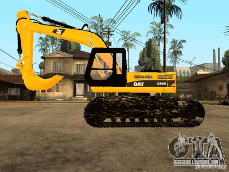 Escavadeira CAT para GTA San Andreas esquerda vista