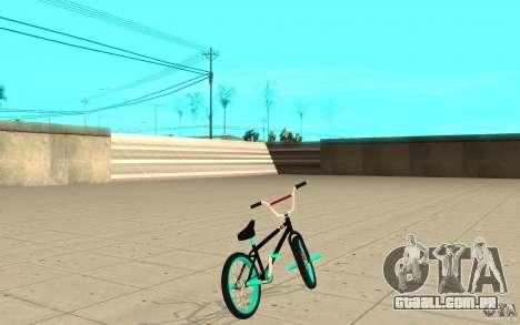 REAL Street BMX mod Black Edition para GTA San Andreas traseira esquerda vista
