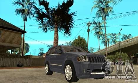 Jeep Grand Cherokee SRT8 v2.0 para GTA San Andreas vista traseira