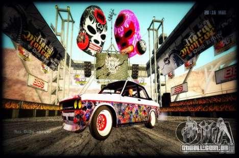 Datsun 510 Monster Energy para GTA San Andreas traseira esquerda vista