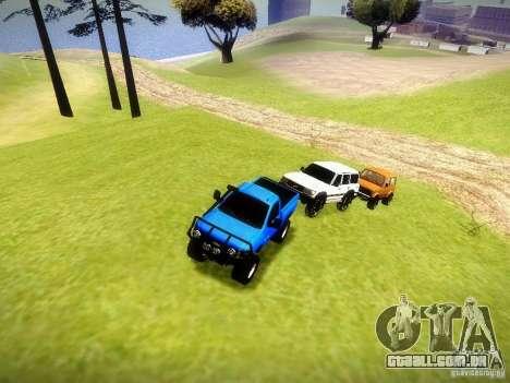 Chevrolet Silverado OFFRoad para GTA San Andreas vista interior