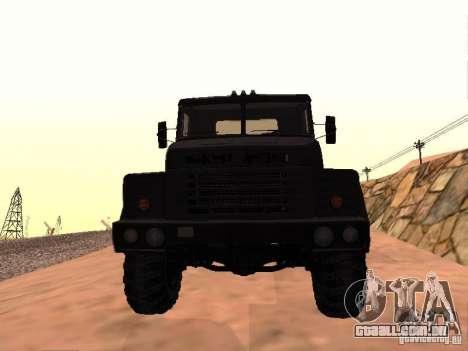KrAZ 260V para GTA San Andreas esquerda vista
