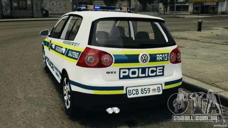 Volkswagen Golf 5 GTI South African Police [ELS] para GTA 4 esquerda vista