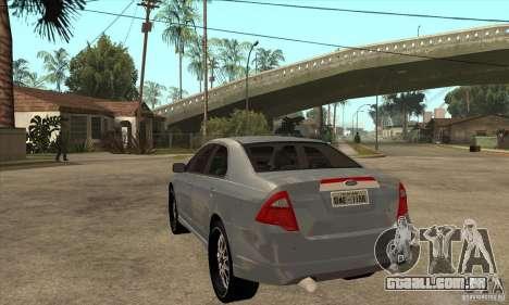Ford Fusion V6 DUB 2011 para GTA San Andreas traseira esquerda vista