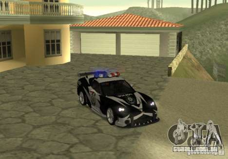 Chevrolet Cross Corvette C6 para GTA San Andreas vista direita