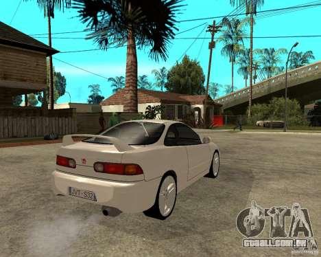 Honda Integra 1996 para GTA San Andreas traseira esquerda vista