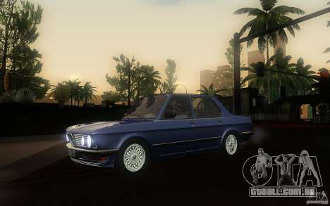 BMW E28 525e ShadowLine Stock para GTA San Andreas