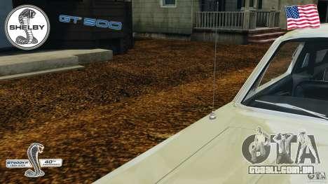Shelby GT 500 para GTA 4 interior