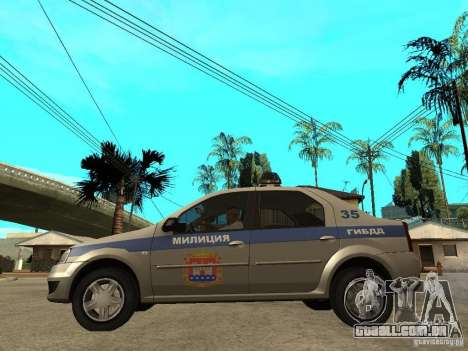 Dacia Logan Police para GTA San Andreas