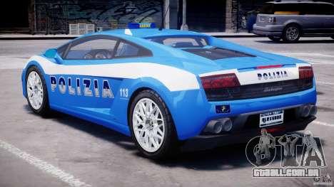 Lamborghini Gallardo LP560-4 Polizia para GTA 4 vista direita