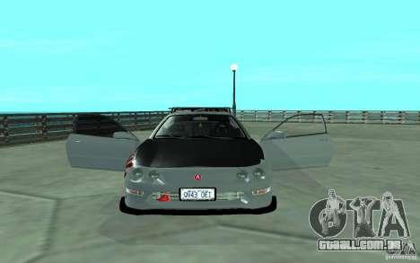 Acura Integra Type-R para GTA San Andreas vista interior