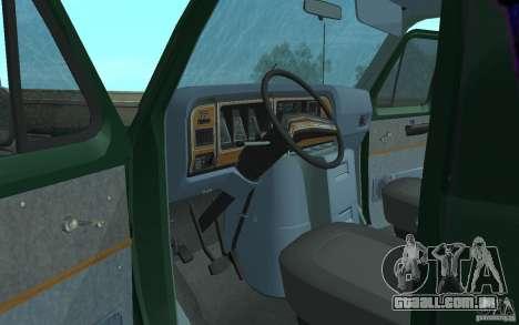 Ford E-150 Short Version v2 para GTA San Andreas vista interior