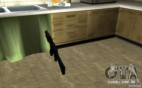 AK-74U para GTA San Andreas terceira tela