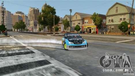 Subaru Impreza WRX STI Rallycross KMC Wheels para GTA 4 traseira esquerda vista