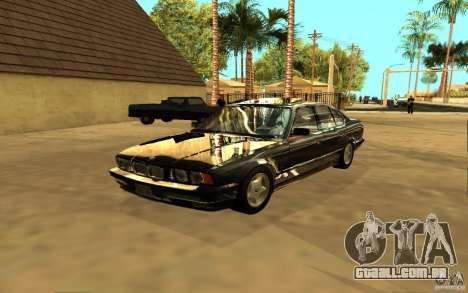 BMW 525 (E34) para GTA San Andreas vista direita
