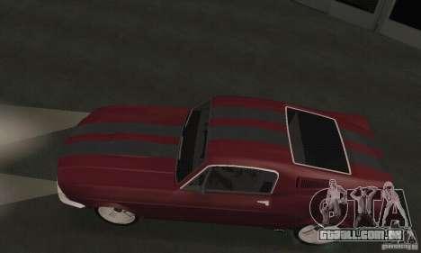 Ford Mustang 1968 para GTA San Andreas traseira esquerda vista