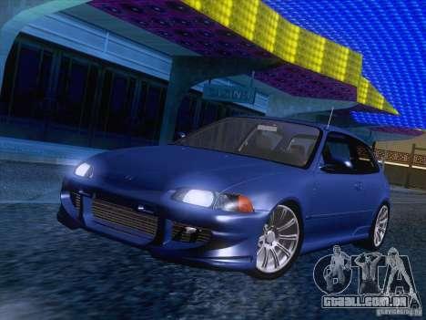 Honda Civic IV GTI para GTA San Andreas traseira esquerda vista