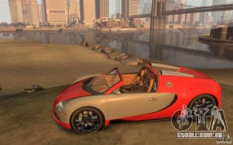2009 Bugatti Veyron Grand Sport [EPM] para GTA 4 esquerda vista