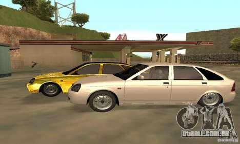 Lada Priora Gold para GTA San Andreas vista traseira