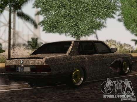 BMW E28 525E RatStyle para GTA San Andreas vista traseira