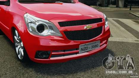 Chevrolet Agile para GTA 4 vista interior