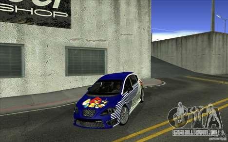 Seat Leon Cupra R para GTA San Andreas vista inferior