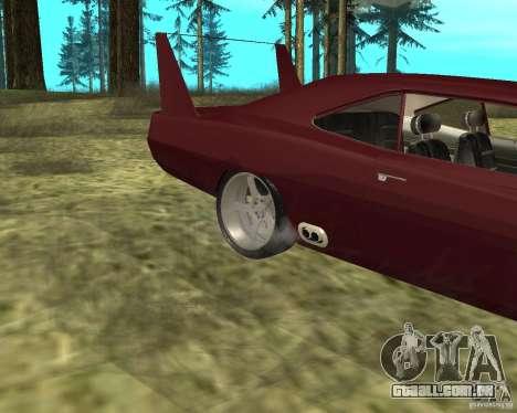 Dodge Charger Daytona para GTA San Andreas vista traseira