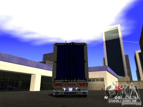 Trailer de Iveco Stralis para GTA San Andreas traseira esquerda vista