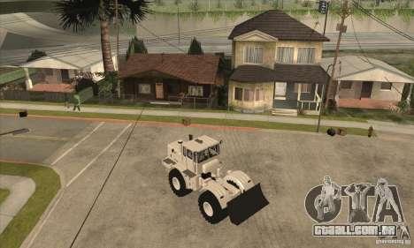 Caminhão do trator de Kirov K701 para GTA San Andreas traseira esquerda vista