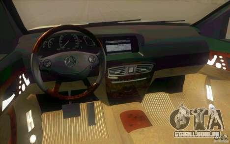 Mercedes Benz CL 500 para GTA San Andreas vista interior